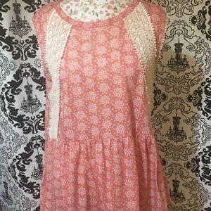 Sleeveless Coral Crochet Top